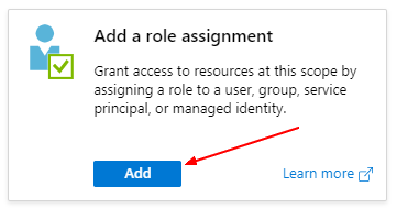 Add role assignment button