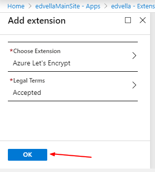 Click ok to install extension